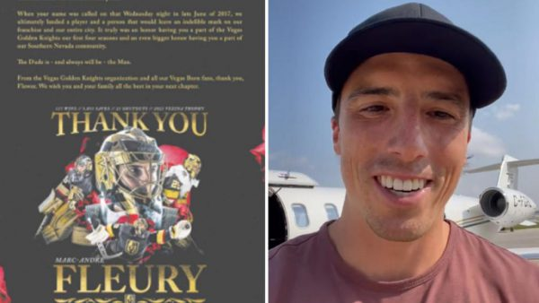 Golden Knights thank Fleury in full-page ad after trade to Blackhawks